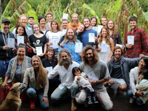 Permaculture course graduation day at Noosa Forest Retreat, Sunshine Coast Australia
